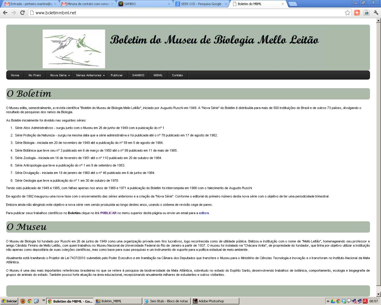 Site do Boletim do Mello Leitão